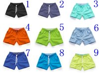 Wholesale Swimwear Swimming Men S - wholesale Mens Swimwear Male Swimming Beach Shorts quick dry Mans swimwear 18 colors 3 pockets Free DHL S M L XL 2XL D527