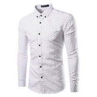 Wholesale Dots Cloth Shirt - Wholesale- 2017 Branding Cloth Long Sleeve mens Shirt Chemise Homme Camisa Masculina Polka dot Printed men Fashion shirts Plus size TU213