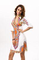Wholesale Tecido Polyester - 3xl plus size atacado roupas africano dashiki dress para as mulheres casual verão boho hippie imprimir dashiki tecido femme robe femme
