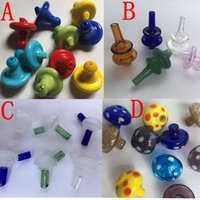 Wholesale Universal Colored Glass UFO Carb Cap Hat style dome for Quartz banger Nails Newest glass water pipes dab oil rigs