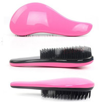 Vente en gros - Magic Detangling Handle Tangle Douche Hair Brush Comb Salon Styling Tamer Tool