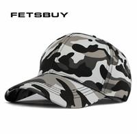 armee-tarnung baseball-hut großhandel-Großhandels-FETSBUY Mens-Armee-Camouflage-Baseball-Casquette-Tarnungs-Hüte für Männer, die Tarnungs-Kappen-Frauen-leeren Wüsten-Hut jagen