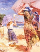 Wholesale Huge Oil Paint - Framed, Lots Wholesale ,R342#,Huge Pino Daeni Portrait, Pure Handpainted Wall Decor Art Oil Painting Multi Sizes can be customized
