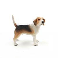 Venta caliente Beagle Hound Dog Standing Canine Pedigree Cute Puppy Statue Brown Staue Sculpture para los amantes del perro