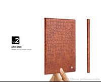 Wholesale Genuine Leather Ipad Case Cover - B03 P Fashion Smart Slim Genuine Leather Case for iPad Mini 4 Crocodile Pattern Megnet Flip Stand Cover