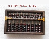 Wholesale Educational Tools Mathematics - Wholesale- high quality 9 column Vintage Abacus WOOD Chinese soroban Tool In Mathematics Education for accountant XMF012