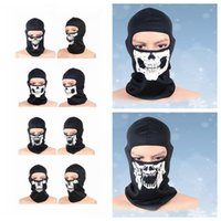 Wholesale Neck Warmer Scarf Sport - Balaclava Beanies Motorcycle Ghost Skull Face Mask Sport Warm Ski Caps Bicyle Bike neck warmer Balaclavas Scarf full Face Mask KKA2525