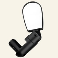 Wholesale Mini Reflectors - Bicycle Rearview Mirror Mini Adjustable Plane Reflector Bike Equipment Colorful Adjustable Angle Plastic Convex Reflector Small Area 6 9rs J