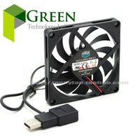 Wholesale Cooler Master Wholesale - Wholesale- Cooler Master 8010 80MM 8cm 80*80*10mm fan 5V 0.25A Super Silent fan with usb connector
