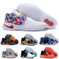 Wholesale Cheap Youth Shoes - Cheap Sale Kyrie 2 Classic BHM Champion USA Cavs Rainbow Wolf Kyrie Irving Women Kid Mens Basketball Shoes Retro Sneakers Youth Kids US5-12
