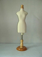 Wholesale Mannequin Dress Forms - freeshipping!FEMALE small sizeg,mannequin sewing for clothes,manequim busto dress form stand1:2 scale Jersey bust with button wooden M00020H