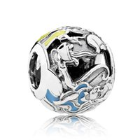 Wholesale Round 925 Bangle - New 925 Sterling Silver Bead Charm Alice Classic Mad Hatter's Tea Party Beads Fit Women Pandora Bracelet Bangle DIY Jewelry
