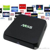 m8s s812 android tv kutusu toptan satış-M8S 4 K Akıllı TV Kutusu Dört Çekirdekli 8G Amlogic S812 Çift WIFI TV Kutusu desteğini Bluetooth Android 4.4 SD Kart