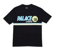 Wholesale Mens Cotton Tees Women - yeezus Aelfric Eden Men women T Shirt Palace Skateboard T-shirt Mens GB London Fashion Tee Top Pally-pal Print White Short Sleeve Tshirt