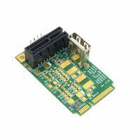 pcie mini pci express al por mayor-Mini PCI-E a PCI-E x1 pci Express 1X Cable de extensión mini pcie a pcie Tarjeta adaptadora con tarjeta vertical USB 2.0
