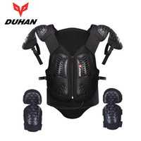 DUHAN Motocross Off-Road Racing Body Armor Waistcoat Motorcycle Riding Proteção Jacket Vest Cofre Protective Gear Elbow Pads