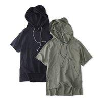 Wholesale Men Plain Hoodies - Men's hoodie Fashion new pocket Plain Hooded loose cotton casual street rock hoodie