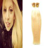 Wholesale u tip 22 613 for sale - Bleach Blonde brazilian virgin human hair extensions keratin hair extension g strands u tip hair extensions human