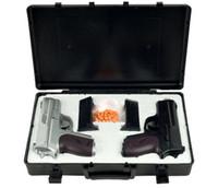 Wholesale Dual Gun Case - NEW CYMA TWIN SPRING AIRSOFT DUAL PISTOL COMBO PACK SET Hand Gun w  Case 6mm BB