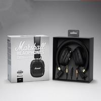 bruit bluetooth achat en gros de-Marshall Major II 2.0 Casque sans fil Bluetooth en noir Casque DJ Studio Casque avec isolation des basses profondes pour iPhone Samsung