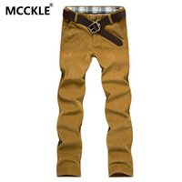 Wholesale Thick Thermal For Men - Wholesale- 2016 Winter Mens Fleece Casual Dress Pants Slim Fit Thick Corduroy Warm Jogger Trousers For Male Fashion Thermal Sweatpants