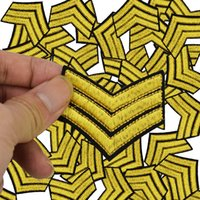Wholesale Military Clothing Accessories - Military Stripe embroidered badge patches for clothing iron embroidered patch applique iron on patches sewing accessories for clothing