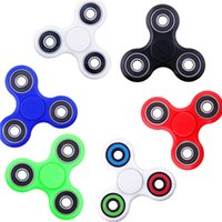 Wholesale Mini Finger Toys - fidget spinner toy tri finger Spinners EDC hand spinner For Decompression Anxiety Toys For Killing Time DHL with retail pacakge pk cube