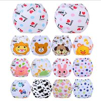 Wholesale diapers owl resale online - Multi colors Washable Baby Cloth Diaper Cover Buckle Mesh Waterproof Cartoon Owl Baby Diapers Reusable Cloth Nappy Suit years