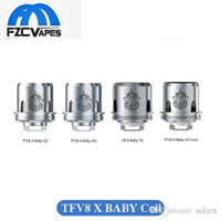 Wholesale Brother Head - 100% Original SMOK TFV8 X-Baby Coil Q2 M2 X4 T6 Coil Head Baby Beast Brother Replacement Coil DHL Free