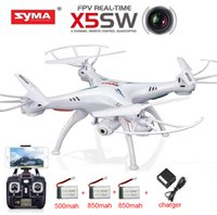 Wholesale Sima Remote Helicopters - Wholesale- Free shipping Sima X5sw WIFI FPV UAV axis real-time remote control aircraft remote control helicopter toy camera 2.4G6 axis