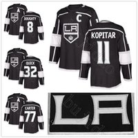 2018 Nueva temporada Los Angeles Kings Jerseys LA 8 Drew Doughty 11 Anze Kopitar Jersey de hockey Negro 32 Jonathan Quick 77 Jeff Carter