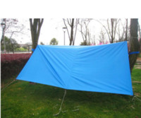 Wholesale Blue Awning - 3 * 3m 210T with silver coating anti-UV tent Multifunction Waterproof Awning Camouflage Camping Tent with bag &nails &rope