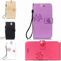Wholesale Huawei Honor Wallet - Strap Bling Plating Flower Wallet Leather Pouch Case For Iphone X Huawei Honor 6X Mate9 Mate 9 G9 Plus Nova Stand Card Phone Cover 50pcs