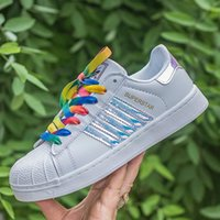 Wholesale Hot Sale holographic shoes Fashion Men Casual Shoes Superstar Female Sneakers Women Zapatillas Deportivas Mujer Lovers Sapatos Femininos