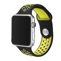 iphone sport bands großhandel-Ankunfts-Entwurfs-Silikon-Band mit Verbindungsstück-Adapter-Klipp für Apple-Uhr-Silikon-Bügel für iPhone iWatch Sport-Wölbungs-Armband 100pcs