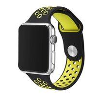 ingrosso clip di braccialetti-Arrivo design banda di silicone con adattatore del connettore clip per Apple Osservare Cinturino in Silicone per iPhone iWatch Sport Fibbia Bracciale 100pcs