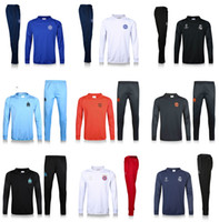Wholesale Men Waterproof Pant - Champions League Edition Soccer training suit sweatshirt and pants survetement 2017 CHE Sweater Tracksuit Set Soccer Training Suit