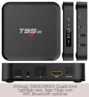 Wholesale Blackbox Hdmi - 10PCS T95m-2GB 8GB 2 years warranty Smart Android5.1 Bluetooth IPTV TV boxes Ares Spinz Appolo Blackbox Apolo SpinzTV Chroma Blackbox