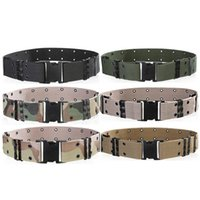 Wholesale Nylon Belts Plastic Buckles - Men's Wide Tactical Belts Plastic Insert Buckle Military Nylon Outdoor Hiking Mountain Camouflage Designer Belts Army Tactical Belts for Men