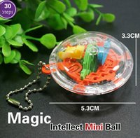 akıl oyunu toptan satış-2 adet 3D Mini Sihirli Akıl Labirent Top Çocuk Çocuk Denge Mantık Yeteneği Bulmaca Oyunu Eğitim Eğitim Araçları