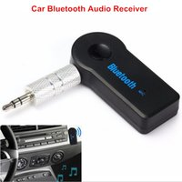 Récepteur De Téléphone En Gros Pas Cher-Vente en gros - Universal 3.5mm Wireless Car Bluetooth Audio Receiver Music Receiver Adapter + Microphone Handsfree Call For Phone MP3 Car Home