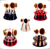 oval round brush - 100pcs Toothbrush Oval Makeup Brushes Display Holder Stand Storage Organizer Brush Showing Rack Plastic Round Acrylic Cosmetic Organizer