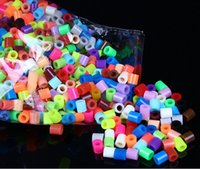 Wholesale 1000PCS Environmental Soft Plastic Multicolor Perler Beads MM MM DIY Creative D Puzzles Beads Baby Kid Educational Toys Q011