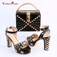 Wholesale Lady Wrapped Bag - Women Shoes High Heel Sapato Feminino Italian Shoe With Matching Bag With Alloy Lady Sandal And To Match Set Hot Sale Sets