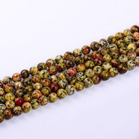 Wholesale Gold Loose Beads For Jewelry - 1pack lot 8mm High quality Round gem semi precious Natural Stone Loose Beads For Jewelry Diy making