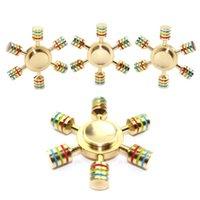 Wholesale Detachable Bike - Brass Hexagonal Fidget Spinner Hexa-spinner Detachable Spinners Metal Hand Spinners EDS Anti-stress Fidget Spinner Decompression Toy DHL