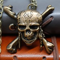 Wholesale Day Dead Skulls - Pirates of the Caribbean 5 Necklace Dead Men Tell No Tales Pirate Skull Capitan Pendant Handmade DIY Long Necklace Movie Jewelry Wholesale