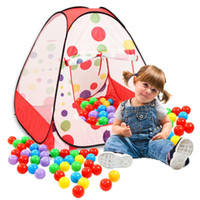 Los niños al por mayor-Portátil Kids Play Tents Playhouse plegable interior de jardín al aire libre Toy Tent Castle Pop Up House Multi-función de regalo