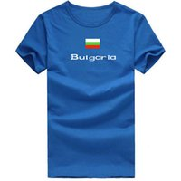 Wholesale Nations Red - Bulgaria T shirt Ventilate sport short sleeve Relaxation trip tees Nation flag clothing Unisex cotton Tshirt