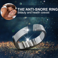 Wholesale Ring Solution - Acupressure Anti Snore Ring Natural Treatment Reflexology Reduce Against Snoring Solution Device Apnea Sleeping Aid Health Care